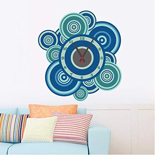 YLCJ Woonkamer-muurstickers, decoratie voor woonkamer, wanddecoratie, blauwe stickers, creatief knutselen, decoratie