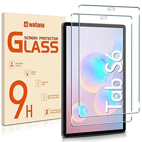 Watana Protector de pantalla de cristal templado para Samsung Galaxy Tab S6 / Tab S5e, SM-T720/T725, SM-T860/865, 10,5 pulgadas, compatible con S Pen [2 unidades] [fácil instalación]