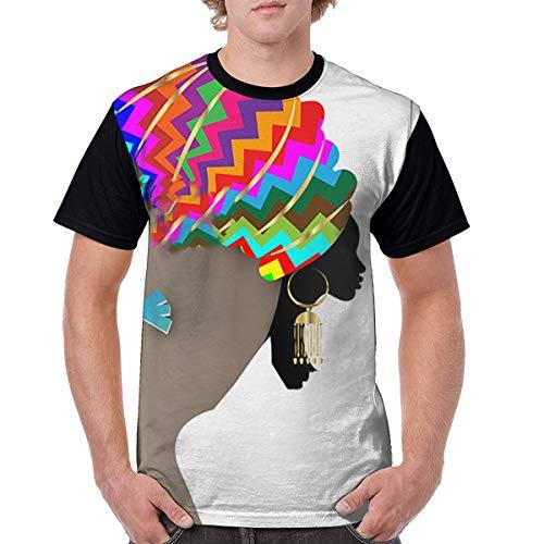 OIVLA Summer Men 3D Printed Afro Stytle Short Sleeve T-Shirt tee Shirt