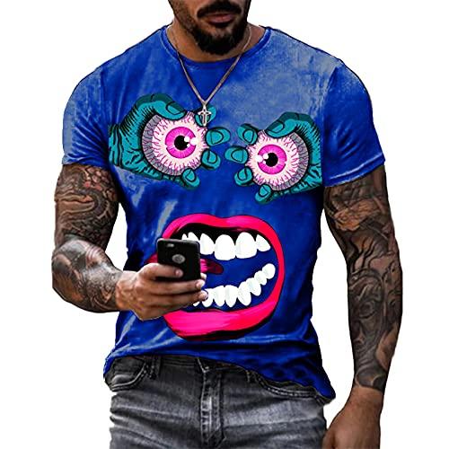 SSBZYES Camiseta Para Hombre Camiseta De Manga Corta De Verano De Talla Grande Camiseta De Cuello Redondo Camiseta Para Hombre Camiseta De Manga Corta Con Estampado De Ojos Enojados Camiseta Deportiva