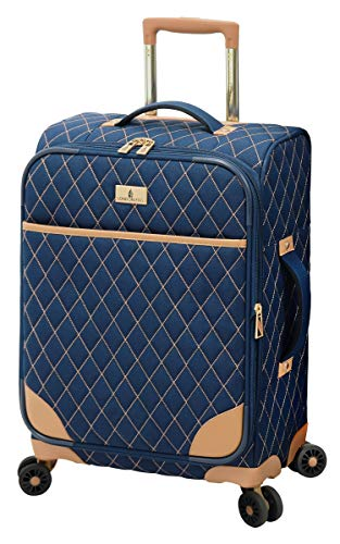 London Fog Queensbury 20' Spinner Carry-On, Navy, 20 Inch