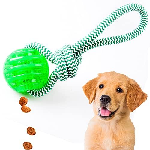 Hunde Wurf und Zerrspielzeug - schwimmfähig | Wurfball mit Seil extrem robust | Hundespielzeug mit Tau | Apportier-Hundespielzeug