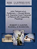 John Tokheim et al., Petitioners, v. Ronald Blume. U.S. Supreme Court Transcript of Record with Supporting Pleadings