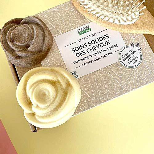 Coffret DIY Soins Solides des Cheveux - Cosmétique Maison - Coffret Cadeau - PROPOS'NATURE - Kit complet débutant - Fabrication Française - Certifié Cosmos Organic