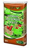 Euflor Erdbeer- und Gemüsemulch 50 L Sack, ideales, dauerhaftes natürliches Abdeckmaterial aus fein geschnittenem Miscanthus