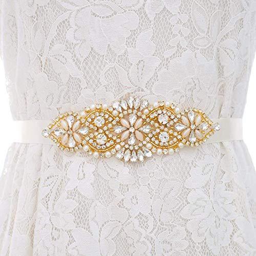 Diamantes de Imitación Fajas de Mujer Satén Tul Fiesta de Boda Fajín...