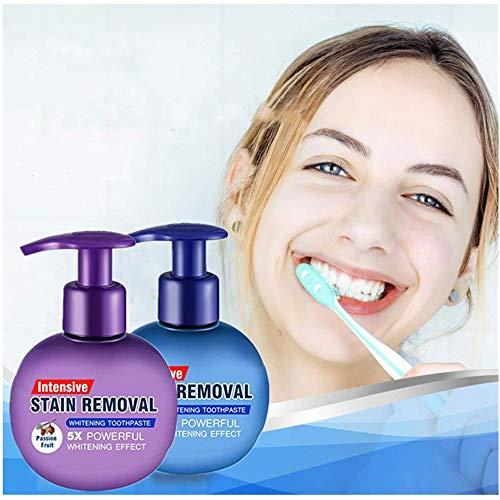 Baking Soda Whitening Toothpaste,2Pcs Intensive Stain Remover Whitening Toothpaste Fight Bleeding...