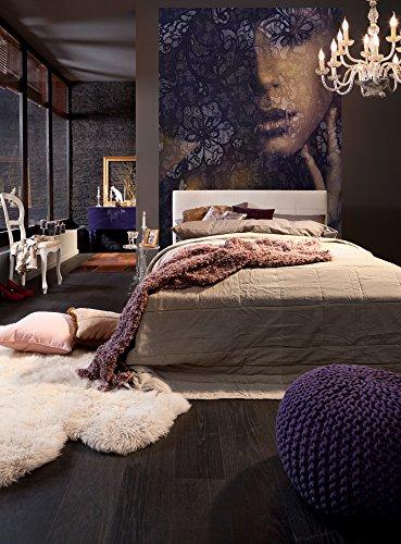 Komar Vlies Fototapete LACE | 184 x 248 cm | Tapete, Wand, Dekoration, Wandbelag, Wandbild, Wanddeko, Frauengesicht, Schlafzimmer, Romantik | XXL2-012