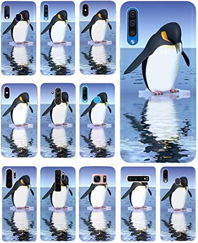 KUMO Hülle für Lenovo K5 Handyhülle Design 1138 Pinguin Blau Schwarz Animiert aus flexiblem Silikon SchutzHülle Softcase HandyCover Hülle für Lenovo K5