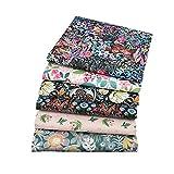 BYY - Lote de 6 piezas de tela de algodón de 40 cm x 50 cm, para manualidades, costura, álbumes de r...