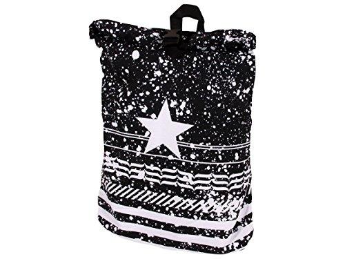 Alsino Rucksack Tasche Umhängetasche mit Griff Rucksacktasche Rücktasche Retro Vintage, Variante wählen:Ruck-c015 Stern