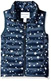 Amazon Essentials Girl's Lightweight Water-Resistant Packable Puffer Vest, Navy Star, Small