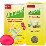 Almased Meal Replacement Shake and Wellness Tea - Plant Based Protein Powder for Weight Management -Tea for Calm Your Body - Gluten Free, No Sugar Added (Protein and Tea + Bonus Stress Ball)