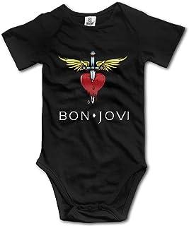 Huijiaoo Unisex BabyBaby Mädchen Bon Jovi Kurzarm Bodys