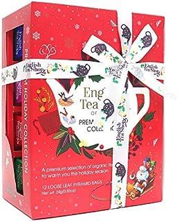 DEU English Tea Shop Auswahl an Weihnachtstees mit festlichen Aromen in Geschenkbox - 1 x 12 Teepyramiden 24 Gramm