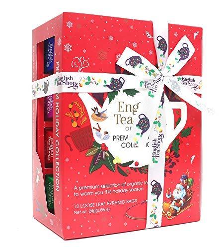 English Tea Shop Assortimento di Tè e Tisane del Natale ai Sapori delle Feste in Cofanetto Regalo - 1 x 12 Piramidi di Tè (24 Grammi)