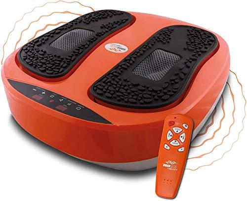 Mediashop VibroLegs - Plataforma vibratoria, combinación de vibración y masaje, incluye mando a distancia, plan de entrenamiento, 3 programas