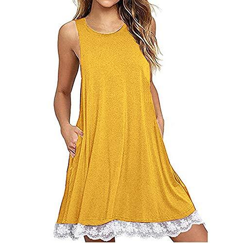 Vestido De Tirantes De Encaje para Mujer Vestido De Verano Nuevo Vestido De Una LíNea