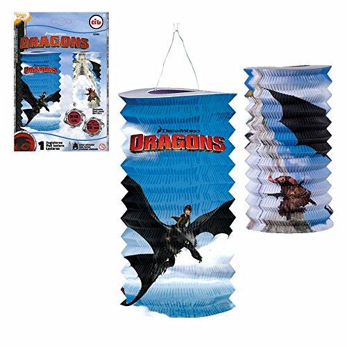 Dragons Zuglaterne | DreamWorks 25 cm | Kinder Lampion | Laterne