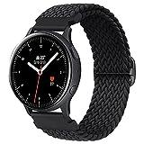 Booyi Elastico Intrecciato Cinturino Compatibile per Samsung Galaxy Watch Active2/ Active, 20mm Cinturino Elastico in Nylon per Samsung Gear S2 Classic 3/Watch 3 41 mm/Garmin Vivo Active 3