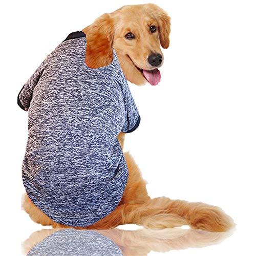 FHKGCD Plus Size Grote Hond Kleding Winter Warm Huisdier Hond Jas Grote Hond Kleding Sport Hoodies Voor Pitbull Bulldog