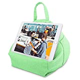 MoKo Tablet Pillow Stand, Tablet Lap Pillow on Bed Sofa Soft Cushion Holder for Phones Tablets Up to 11', Fit with iPad 10.2' 2019, iPad Air 3 2, iPad Pro 11 2020/10.5/9.7, Mini 5/Mini 4 - Mint Green
