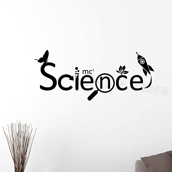 Wall Tattoo Wall Sticker Mural Wallpaper Science Chemical Vinyl Kids Scientist Chemistry School Sticker Removable Wall Decals Home Decor Bedroom 70x30cm
