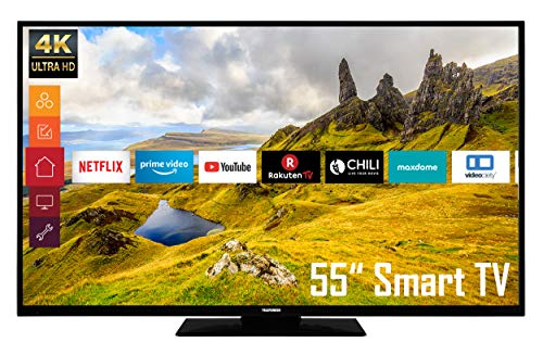 Telefunken D55U296E4CWH 55 Zoll Fernseher (4K Ultra HD, HDR, Triple Tuner, Smart TV)