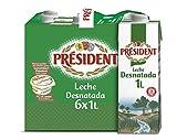President Leche Desnatada, 6 x 1L