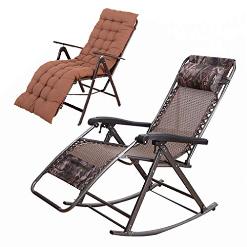 Old Man Rocking Chair Chaise Pliante Chaise Siesta Chaise À La Maison Des Femmes Enceintes Lunch Break Recliner Cush Padded Single Chair