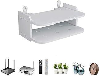 WANGXIAO Estantes De Pared Router Titular, Multiusos TV Set-Top Boxes Decoración Ahorrar Espacio Estantes Flotantes para C...