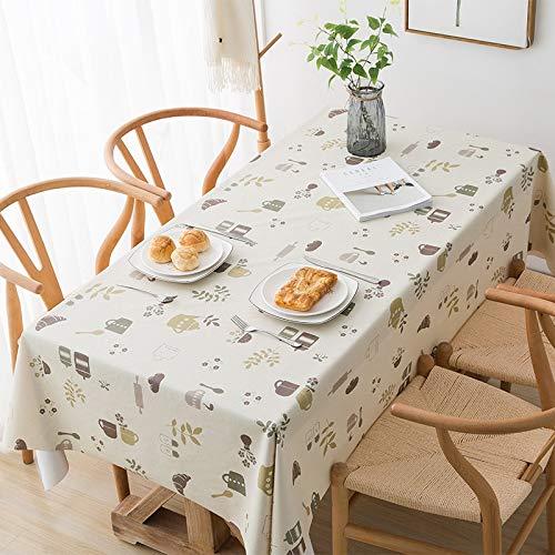 XXDD Mantel pequeño Fresco Impermeable y Lavable a Prueba de Aceite para Banquete Mantel de decoración de Cocina A6 140x200cm