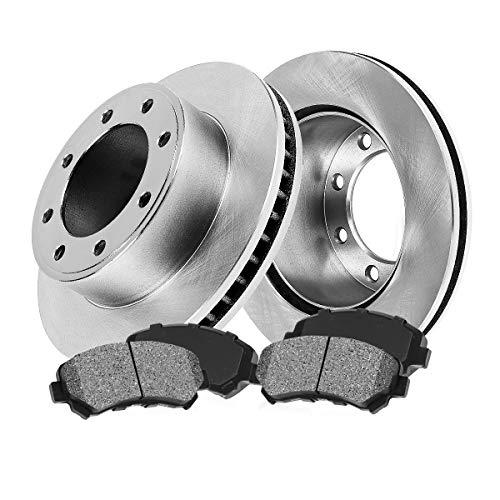 CRK11758 FRONT 317 mm Premium OE 8 Lug [2] Brake Disc Rotors + [4] Metallic Brake Pads