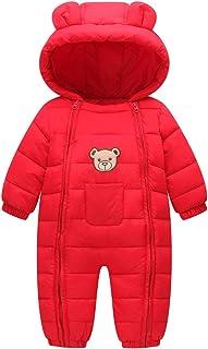 Dziecięcy kombinezon zimowy z kapturem, kombinezon śniegowy, stroje niedźwiedź, śpioszki, dla chłopców i dziewczynek
