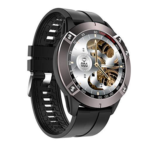 BNMY Smartwatch, Reloj Inteligentecon Impermeable IP67 con Pulsómetro Cronómetros, Calorías Monitor De Sueño Podómetro Pulsera Pulsómetros Hombre Y Mujer Reloj Deportivo para Android iOS,Negro