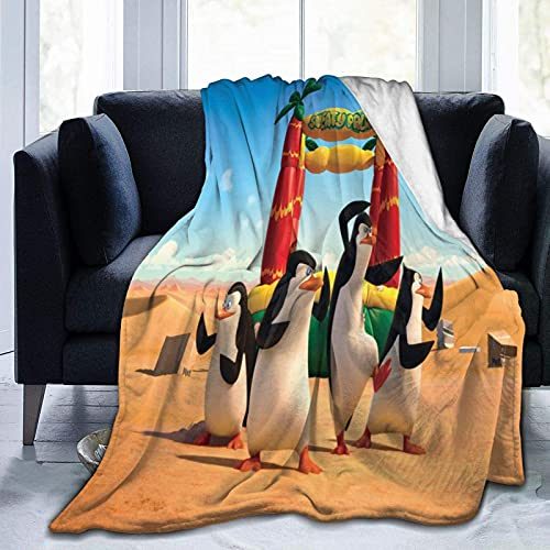 DSZQTT - Manta de cama de alta calidad, diseño de Penguins Of Madagascar para sala de estar, manta cálida de 200 x 150 cm