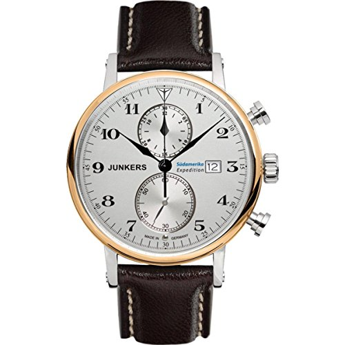 Junkers Herren Chronograph Quarz Uhr mit Leder Armband 65865
