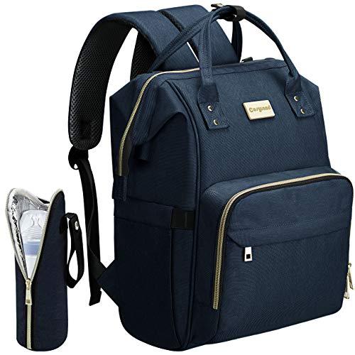 COSYLAND Baby Wickelrucksack Babytasche Wickeltasche Rucksack Multifunktional Groß Kapazität mit Kinderwagen-haken Isolierte Tasche USB-Lade Port Blau