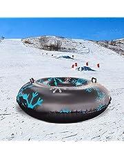 knowledgi Sneeuwbuis opblaasbaar met handvat/sneeuwbuis/sneeuwslee, grote sneeuwbuis 47 inch voor de winter en outdoor-skipas