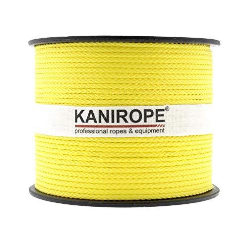 Kanirope® PP Seil Polypropylenseil MULTIBRAID 2mm 500m Farbe Gelb (1132) 8x geflochten