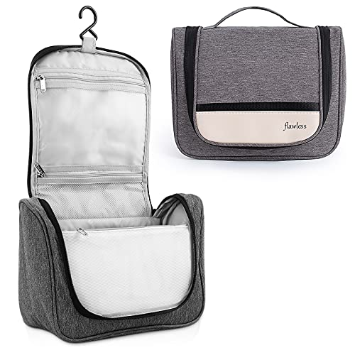 AOVOLLY Toiletry Bag, Hanging Travel Toiletry Bag for Women and Men,Water-resistant Cosmetic Makeup Bag Travel Organizer with Hanging Hook,Bathroom and Shower Organizer Kit for Toiletries, Cosmetics