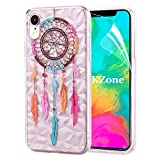 OKZone Funda iPhone XR [con Protector Pantalla], Cárcasa 3D Diseño Slim Elegante Patrón...