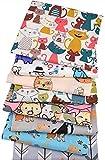 8 Orginales gatos y perros para cojines, vestidos, costura, colchas, toallas, banderines, caravanas,...