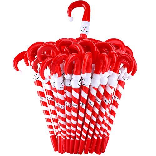 40 Piezas Bolígrafos de Navidad Bolígrafos de Bastón de Paraguas Muñeco de Nieve para Fiesta de Navidad Regalo...