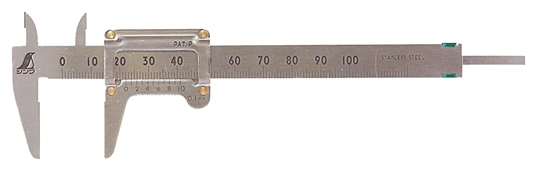 ブローホール眠いですコミットシンワ測定 ポケットノギス 100mm 19518