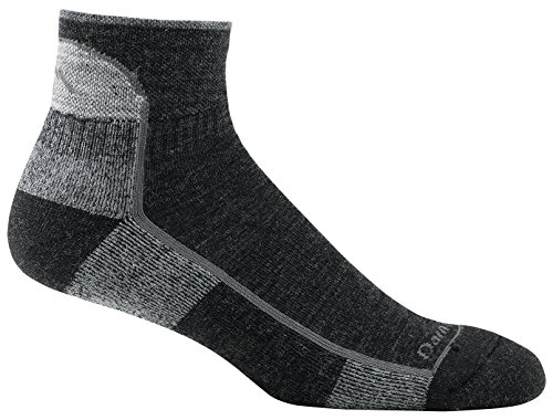 Darn Tough Vermont Men's 1/4 Merino Wool Cushion Hiking Socks, Black, Medium