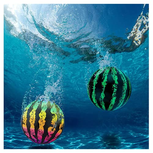 TAIYANYU Watermelon Ball Combo Pack,The Ultimate Swimming Pool Game,Pool Ball for Under Water Passing, Dribbling, Diving and Pool Games for Teens, Kids, or Adults (A+B)