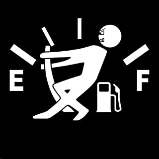 YOUNGFLY Car Fuel Tank Cap Stickers Decal Vinyl Stickers Funny Signs Decal White Reflective