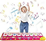 TWFRIC Piano Mat Music Dance Mat 39'' x 14'' Piano Keyboard Mat Foot Musical Keyboard Play Mat with 8 Animal Sounds Musical Touch Play Game Gifts for Kids Toddlers Girls Boys