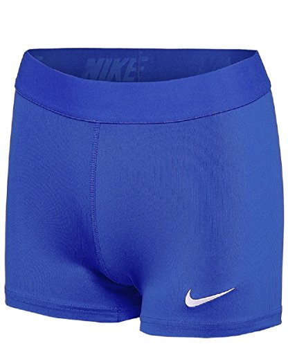 Nike Womens Pro 3'' Power Compression Short (Large, Royal)